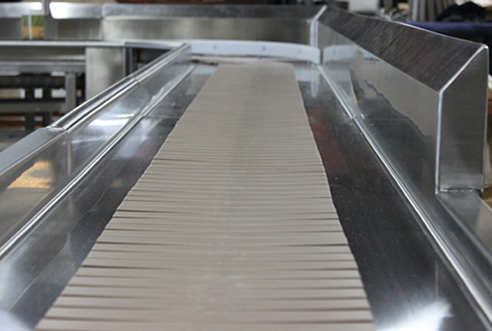Slatted Soiled Dish Conveyor System